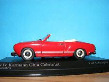 Volkswagen Karmann Ghia Cabriolet 1957 1:43 Obsolete Minichamps NEW NLA