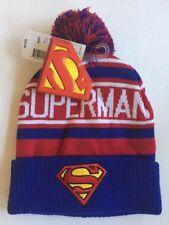 Superman Knit Beanie Pom Hat-Adult one size