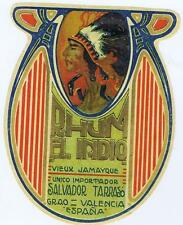 Rhum El Indio Native American vieux jamayque Salvador Tarras, Spain label #12