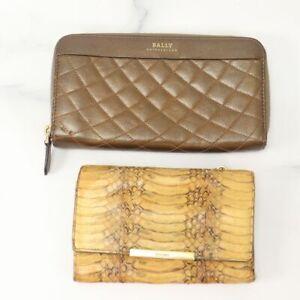 BALLY miu miu Long Wallet Used Lot of 2 Authentic 82459-20