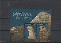 Gambia 2014 MNH African Birds of Prey 4v M/S Pale Chanting Goshawk Kestrel