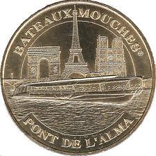 75008 PARIS BATEAUX MOUCHE PONT L'ALMA MÉDAILLE MONNAIE DE PARIS 2014 JETON COIN