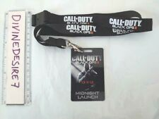 Vintage Call Of Duty Black Ops 2 Lanyard with Midnight Launch Card Rare 2012