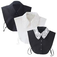 Women Vintage Dickie Ladies Embroidery Lace Fashion Detachable False Collar US