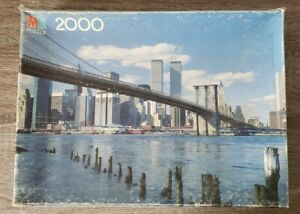 Vtg SEALED NEW YORK CITY ● BEST OF AMERICA ● 2000pc MB Jigsaw Puzzle Twin Towers
