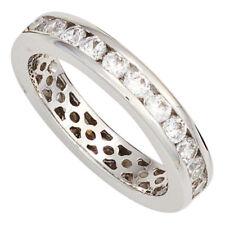 Ring Damenring mit Zirkonia weiß rundum 925 Silber glänzend Silberring