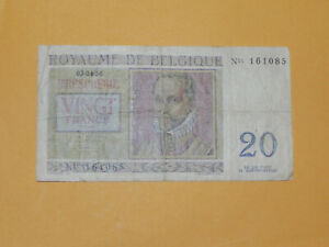 Belgium 20 Francs Banknote 1956 P-132b Circulated JCcug ax05