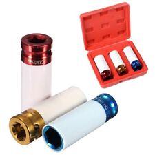 3pc Thin Wall Deep Impact Socket Set Plastic Sleeve Lug Nut 17mm 19mm 21mm