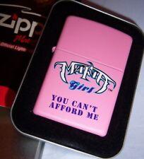Rare! 2005 Zippo Motor Sports Pink Matte Lighter #238MM1003 Mafia Girl