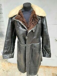 Soviet russian naval VMF officer winter overcoat bekesha size 526 natural fur