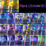 20PCS GX Ultimate Ultra Beast Pokemon Cards TCG Trading Flash Cards Kids Gifts