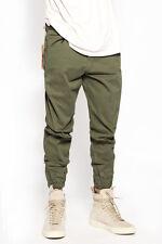 TheMogan Men's Harem Washed Denim Camoflage Twill Jogger Pants Crop Jeans 28~42