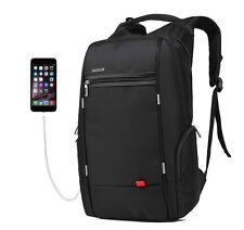 Men's Travel Backpack USB Charging Port Nylon Bookbag Daypack School Laptop Bag