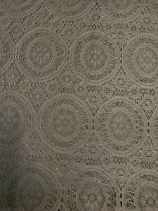 Crochet Lace Fabric in Black - Pattern 9090 - 5000mm x 1400mm