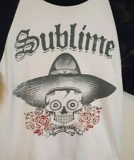 SUBLIME Raglan T-shirt POR VIDA Ska Punk LBC Long Beach Tee Adult Size Med.