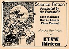 1974 Ktvw Tv Ad~Lost In Space Robot Science Fiction Shows Outer Limits