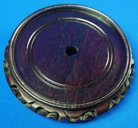 "Chinese Round Wood Carving 7"" Base/Stand (Top inner diameter 5 1/2"")"