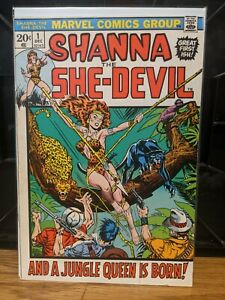 Shanna the She Devil 1 RARE 1st Appearance Origin Key VF- Marvel Comics