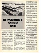 1962 OLDSMOBILE NEW ENGINEERING CENTER  ~  ORIGINAL SINGLE-PAGE ARTICLE