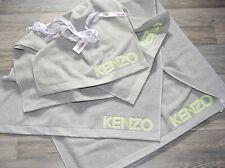 KENZO set  4X  BADETUCH + HANDTUCH ICONIC GRAU neon