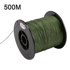 New PE strength fishing line Braided 4 Strands green 500M 30LB 0.26mm