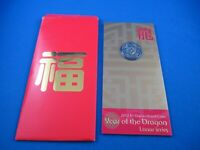 2012 RAM Lunar Year of The Dragon Australia $1 Dollar UNC Coin on Card. SCARCE