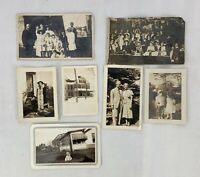 Vintage 1930s Photographs Lot of 7 Family, Men Women Children Baby Photos e1