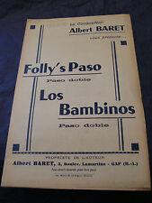 Partition Folly's Paso los Bambinos Albert Baret  Music Sheet
