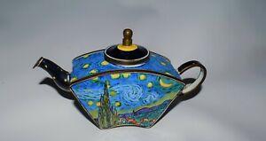 collectible Van Gogh Starry Night Mini Tea Pot Kelvin Chen No. 182 K