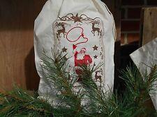 Santa Bag,12 x 20 Christmas sack, Santa Sack, Holiday decor, Christmas FeedSack