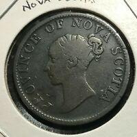 1840 NOVA SCOTIA CANADA HALF PENNY TOKEN