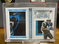 2015 Panini Playbook Devin Funchess Jumbo Logo Patch Booklet RC #1/10 Rookie