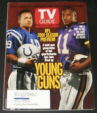 TV Guide September 2001-NFL Preview-Peyton Manning,Daunte Culpepper cover