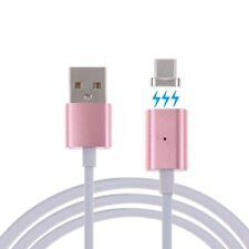 2x Magnetic USB-C Ladekabel 1m Sync Daten Kabel Typ-C Type-C Magnet Stecker Rosa