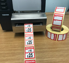 Reduced was / now Price Stickers / Labels For Use With Thermal Printers (Zebra)