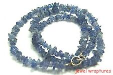 "Nice Color! Tanzanite Chip 18"" Necklace With Sterling Silver Clasp"