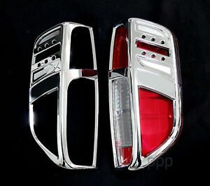 CHROME TAIL LAMP REAR LIGHT COVER TRIM FOR NISSAN FRONTIER NAVARA D40 05-14 FIT