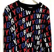 NEW + Tags Vintage Retro Designer Style Logo  - Primark New York Jumper Sweater