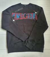 Tigha Herren  Sweater Pullover Dalton Black  Größe M