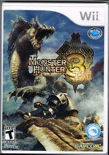 Monster Hunter Tri (Nintendo Wii, 2010) ~ Used Complete ~