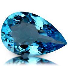 14.79 cts Natural Pear-cut Sparkling Swiss-Blue IF/VVS Topaz (Brazil)