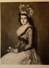 """Eau-forte de Daniel MORDANT, d'après Goya """"La jeune femme à la rose"""""""