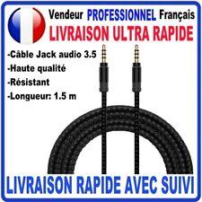 Câble Prise Jack 3.5mm Male/Male 4 pôles Stéréo pour Smartphone Voiture Casque