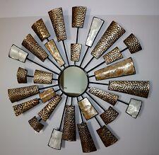 Wandbild Wanddekoration Wandschmuck Metallbild 3D Spiegel Perlmutt Metall Schön