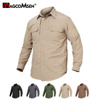 Mens Quick Dry UV Protection Shirts Military Long Sleeve Casual Hiking Shirts