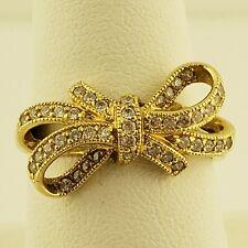14 Karat Yellow Gold Bow Ring Size 8.5
