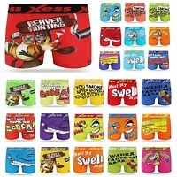 Mens Boys Xplicit Designer Novelty Rude Boxer Trunks Shorts Underwear Funny Gift