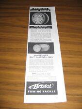 1935 Print Ad Bristol Black Wonder & Kingfisher Fishing Lines Horton Mfg, Conn