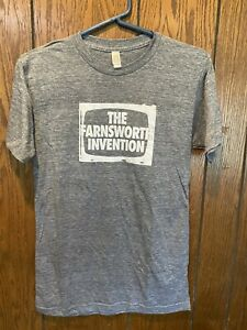 BNWOT MEN'S BROADWAY THE FARNSWORTH INVENTION PLAY SHOW T-SHIRT SMALL RARE