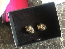 Avon Para Earrings Burnished brass plated pierced earrings New Boxed